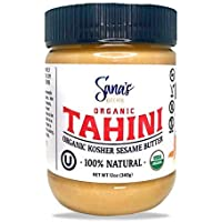 Ground Sesame Tahini paste, Certified USDA Organic and Kosher, Non-GMO, Unsalted, Peanut Free, BPA FREE Jar, Vegan, Paleo, Gluten-Free
