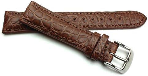 20mm Echt Alligator Vintage hangemacht in Deutschland Uhrenarmband Braun
