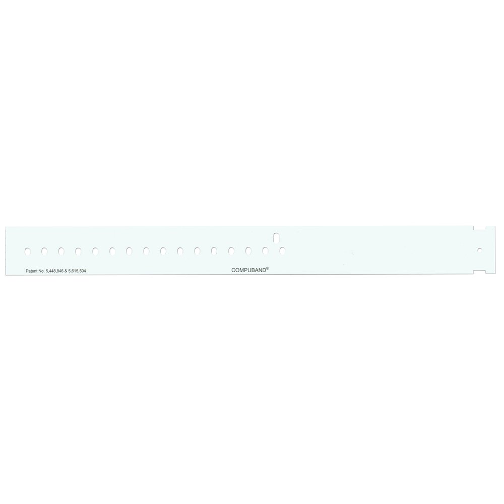 PDC Healthcare CompuBand 7043-11-PDH Adult Direct Thermal Wristband, Permanent Snap Closure, 1'' Core Size, White (Box of 500)