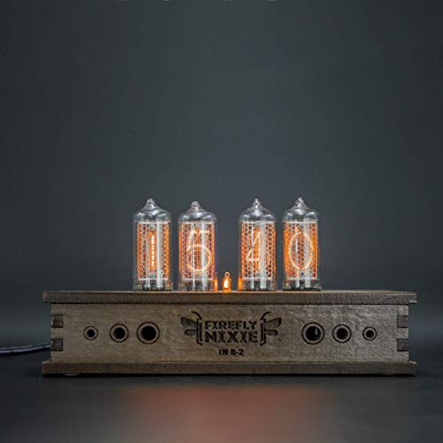- Nixie Tube Clock 4x IN-8-2 Nixie Tubes Vintage Retro Desk Clock Fully Assembled and Tested Wooden Alder Case
