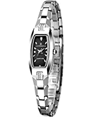 Delicate Men's Wrist Watches Women's Wrist Watches Couple Watches Waterproof Ladies Watch Female Tungsten Steel Watch Female Watch Student Bracelet Watch,Colour Name:Silver (Color : Silver)