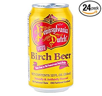 (PA Dutch Birch Beer, Protected With High-Density Foam, Favorite Amish Drink, 12 Oz. Cans (Case of 24) )
