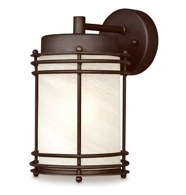 (Westinghouse Lighting 62307 Wall Light Fixture, Outdoor, Oil-Rubbed Bronze & White Glass, 100-Watt, 6.25 x - Quantity 1)
