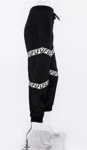 Trotar Pants Patchwork Negro Pantalones Cordón Con Largo Moda Mujeres Casual De Deportivos Pantalón Yoga Aptitud IPqw6ndvxA
