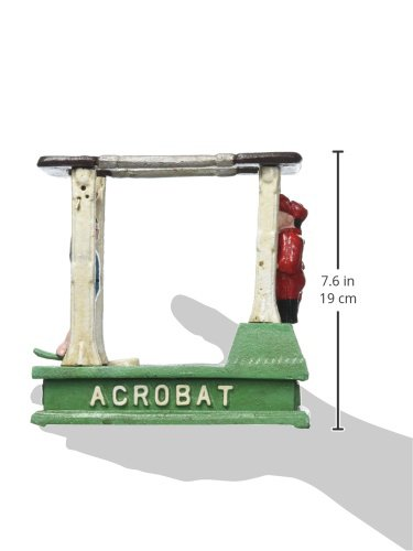 Design Toscano The Acrobat Collectors' Die-Cast Iron Mechanical Coin Bank by Design Toscano (Image #3)
