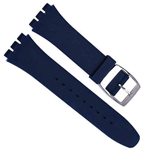 greenolive-19mm-replacement-waterproof-silicone-rubber-watch-strap-watch-band-navy-blue