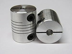 5mm x 8mm Flexible Coupler (4 pack) - 3D Printer, RepRap, CNC, stepper motor shaft from generic