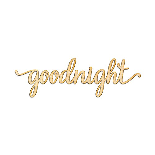 Cheap Goodnight Script Word Woodums Wood Sign Home Décor Wall Art for Gallery Wall – Unfinished 18″wide x 6″ tall