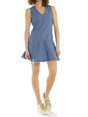494 Kleid Stone Waschung für Jeans regular skater Wash fit stil Carrera frau Hellblaue 500 ärmelloses denim Super look E5Fq6an