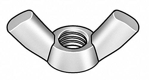 M5-0.80 Wing Nut, Plain Finish, 18-8 Stainless Steel, Right Hand, PK10 - pack of 5