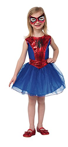 Spider Man New Costumes Comic (Rubie's Marvel Universe Classic Collection Spider-Girl Costume, Child Medium)