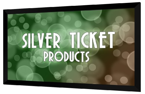 """Silver Ticket Wide Format PC 16:10 95"""" Fixed Frame Projector Screen"""