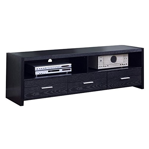 Coaster Black 61 Inch Contemporary Media Console with Shelves and Drawers by Coaster Home Furnishings (Image #2)