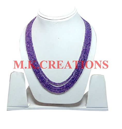 Natural Light Amethyst 3-4mm rondelle faceted beads 36