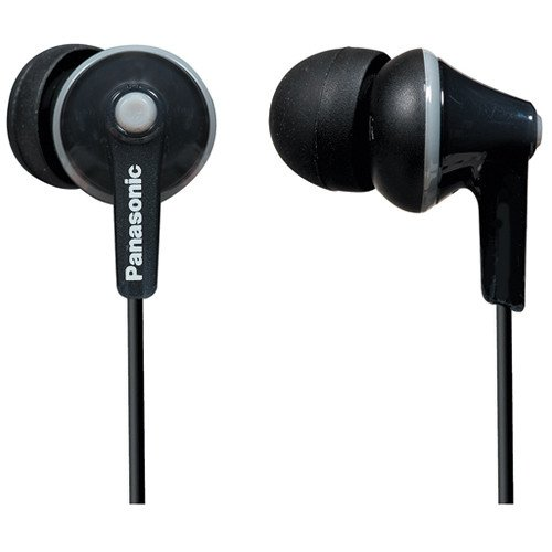 Panasonic in-Ear Lightweight Water-Resistant Active Sport Stereo Headphones with in-line Microphone and Remote Black