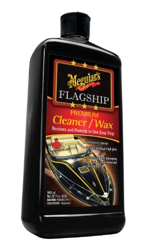 Collinite Fiberglass Boat Wax - Meguiar's 32 Ounce M6132 Flagship Premium Cleaner/Wax 32