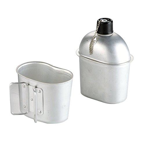 IBILI 720500 Cantimplora de aluminio army 1 l