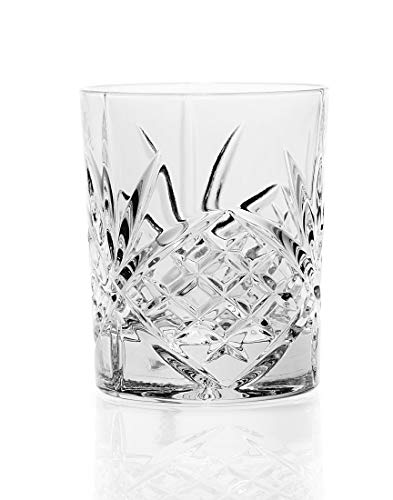 Godinger 25736 Dublin Crystal Set of 12 Double Old Fashioned - China Glass Fashioned Old