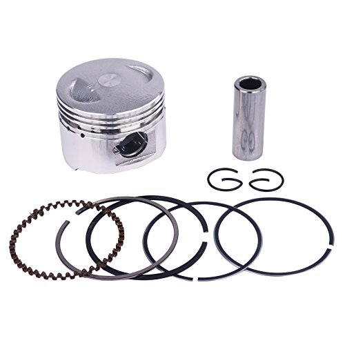 Glixal ATMT1-036 GY6 60cc 44mm Piston Set with Rings for 139QMB 139QMA Engine Scooter Moped ATV Go Karts JONWAY,JMSTAR,ROKETA,SUNL,TANK,PEACE,TAOTAO,Dongfang,Kazuma,JCL,BMS