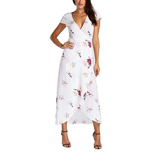 Fresco Blanco Mujeres Elegante de Vestido Flores Dama 2018 Sonnena Sundrss Vestidos vestid Fiesta Sexy Verano Bohemio Mujer Playa Mini Citas Playa Maxi para Verano 2 Verano 1gWqS1Ypw