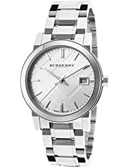 Burberry Womens BU9100 Large Check Stainless Steel Bracelet Watch