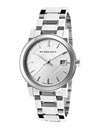 Burberry Women's BU9100 Large Check Stainless Steel Bracelet Silver Dial Watch