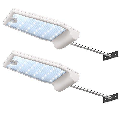InnoGear lámparas de pared con canalones de luces solares y barra de montaje para exteriores, luz con sensor detector de...
