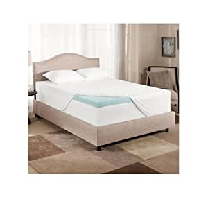 novaform gel memory foam 3 inch mattress topper twin size home kitchen. Black Bedroom Furniture Sets. Home Design Ideas