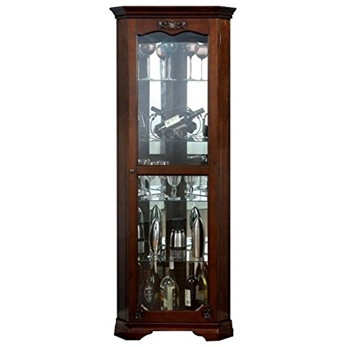 Curio Cabinet Hutch (Pemberly Row Corner Curio Cabinet in Walnut)