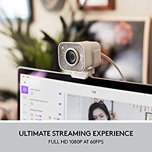 Logitech StreamCam, Live Streaming Webcam, Full 1080p HD 60fps Vertical Video, Smart auto focus and exposure, Dual camera-mount versatility, with USB-C, for YouTube, Gaming Twitch, PC/Mac – White