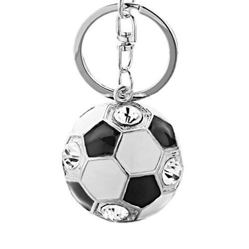 Enamel Football - Astral Crystal Football Enamel Keychains Purse Bag Buckle Handbag Pendant For Car Keyrings Key Chains For Women K238