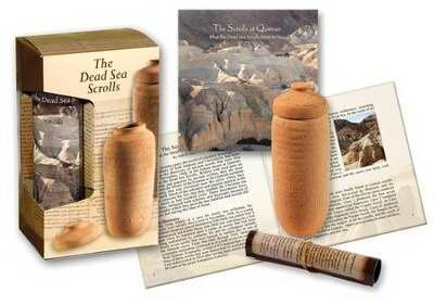 (Holy Land Gifts 92205 Gift Set-Dead Sea Scrolls Set With Pottery Jar)