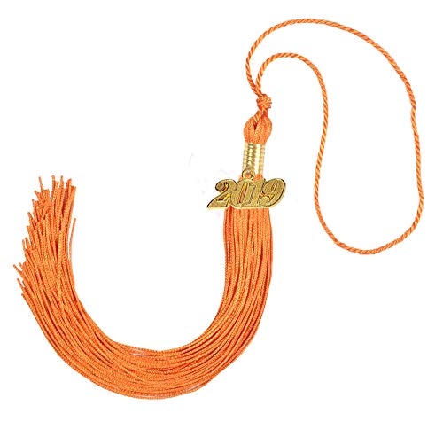 GraduationForYou Academic Graduation Tassel With 2019 Year Charm, Available For 14 Colors