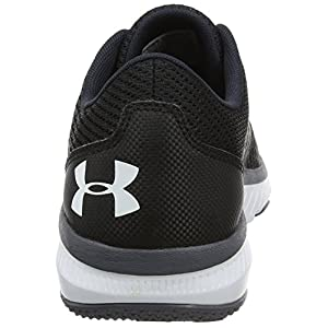 Under Armour Women's Micro G Press, Black/Rhino Gray/White, 9 B(M) US