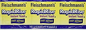 Fleischmann's Rapid Rise Instant Yeast Fast Acting 0.25 Ounce, 3 Count (Pack of 2) ...