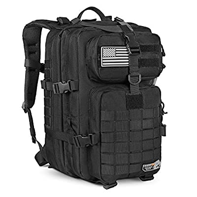 LeisonTac Tactical Backpack: Military Assault Pack | Extreme Water Resistant Small Rucksack | Hydration Bladder Compartment | Army Backpack for Hunting Hiking & Travel