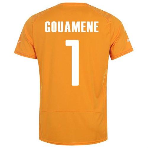 微妙取得実現可能PUMA GOUAMENE #1 IVORY COAST HOME JERSEY WORLD CUP 2014/サッカーユニフォーム コートジボワール ホーム用 ワールドカップ2014 背番号1 グアメネ