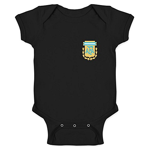 Pop Threads Argentina Futbol Soccer Retro National Team Black 12M Infant Bodysuit