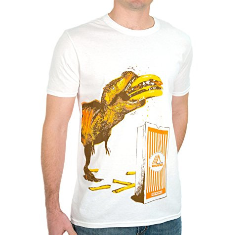 Whataburger Mens T Rex T Shirt  Large  White  Direct From Whataburger