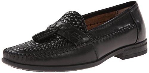 Nunn Bush Men's Strafford Woven Slip-On Loafer, Black, 12 M US by Nunn Bush