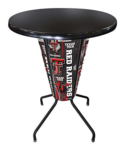 Lighted Texas Tech Pub Table