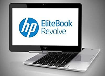 """HP EliteBook Revolve 810 G2 2-in-1 Convertible Tablet Computer, Intel Dual-core i7-4600U up to 3.3 GHz, 8GB DDR3, 256GB SSD, 11.6"""" HD Touchscreen, Windows 10 Pro (Certified Refurbished)"""