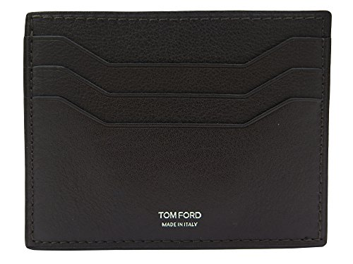 Tom Ford Brown Grained Leather Card - Ford Men Tom For Wallets