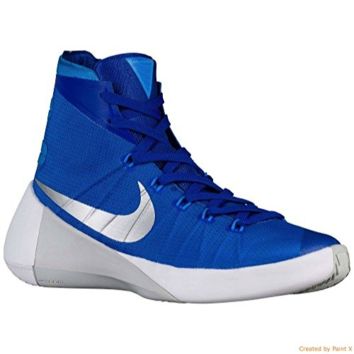 Nike Femmes Hyperdunk 2015 Tb Basketball Jeu De Chaussures Royal / Argent Métallique / Bleu Héros
