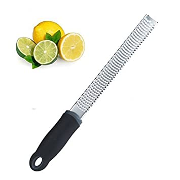 Ipop Retail Classic Lemon Zester/Grater (30.5 x 2.5 x 1.3 cms, Silver, Stainless Steel) Graters & Slicers at amazon
