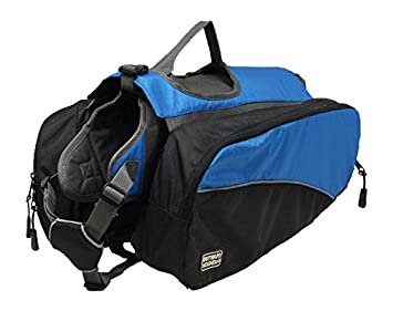 Amazon.com : Outward Hound Kyjen 2490 Dog Backpack, Large, Blue ...