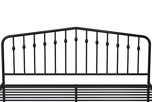 41AmmDa47cL - Novogratz Bushwick Metal Bed, Modern Design, Full Size - Black