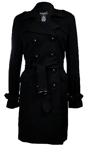 UPC 735611572973, Sutton Studio Ponte Trench Coat Black 12P [Apparel]