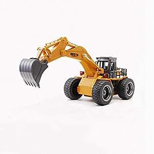 FH Mando a Distancia de Juguete de la Nieve de Juguete Toy Truck Modelo Excavadora Bulldozer Gancho de Cuatro Ruedas Drive Juguetes para niños: Amazon.es: ...