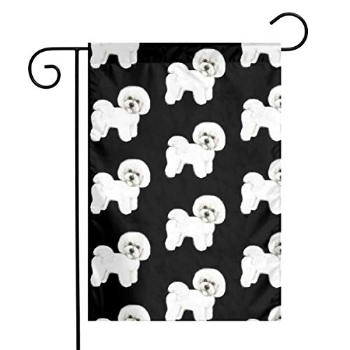 UEYFBS77 Bichon Frise Garden Yard Flag Vertical 12 X 18 Polyester Farmhouse Summer Outdoor Decorative Strong Wear and Wrinkle Resistance,Garden Flag (Frise Sign Bichon Welcome)